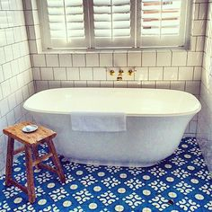 Halcyon House Anna Spiro Bathroom Floor Tiles, Laundry In Bathroom, Bathroom Storage, Tile Floor, Master Bathroom, Halcyon House, Anna Spiro, Australian Interior Design, Powder Room Design