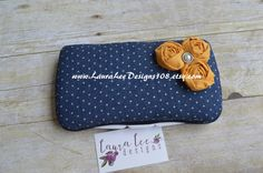 Denim Navy Blue with Small Polka Dots and by LauraLeeDesigns108