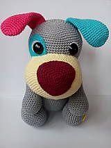 Hračky - Háčkovaný psík  HAPPY - 8085840_