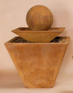 Two Tier Tapered Square Fountain  1494