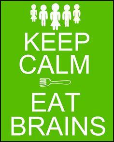 keep calm zombies printable