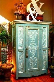 Beautifully stenciled furniture