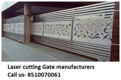 We provide all kind of Laser and CNC cutting work on these product Mdf metal steel Stainless Acrylic jali partition tree Aluminium Corian Brass wood stone mirror wpc pvc Acp Hpl paper fabric engraving ceiling front elevation design ms ss cutting steel gate sheet CNC Laser cutting job work. call us- 8510070061 Steel Gate Design, Front Gate Design, Main Gate Design, House Gate Design, Fence Design, Door Design, Wooden Gate Designs, Wooden Gates, Sliding Screen Doors
