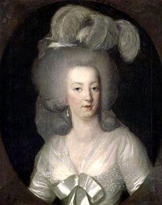 FCBTC / Portrait de Marie Antoinette portant une robe blanche avec une gaine, 1784 Wilhelm Bottner