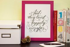 """And they lived happily ever after"" - A Classic Fairy Tale Ending - on Etsy"