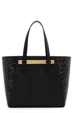 $198, Jace Leather Tote Black by Vince Camuto. Sold by Nordstrom. Click for more info: http://lookastic.com/women/shop_items/138165/redirect
