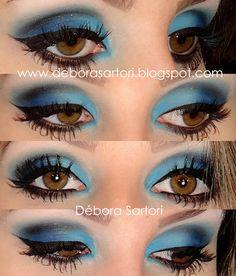 Débora Sartori: Make Azul - Peles claras e morenas