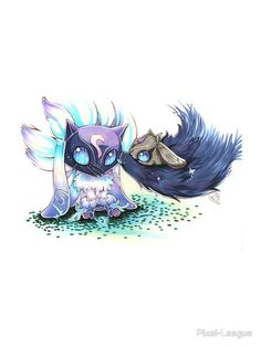 """Wallpaper - """"Kindred - Lamb & Wolf"""" Stickers by Pixel-League Jhin League Of Legends, League Of Legends Characters, Starcraft, Lambs And Wolves, Chibi Anime, Fanart, Cool Monsters, Cosplay, Furry Art"""
