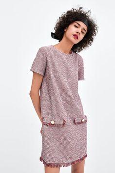 d329a40009 Image 2 of TWEED-LOOK DRESS from Zara Short Sleeve Dresses