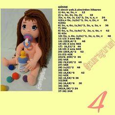Ve cok sevilen Zumra bebek tarifi ❤️❤️ Tarif sevgili e ait … - Amigurumi Models Crochet Dolls Free Patterns, Crochet Doll Pattern, Amigurumi Patterns, Doll Patterns, Crochet Toys, Knit Crochet, Amigurumi Tutorial, Crochet Girls, Crochet Videos