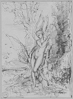 Gustave Moreau (1826-1898), Léda, Musée Gustave Moreau, Parijs.