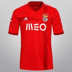 Camisa Adidas Benfica Home 2014 s/nº - Vermelho+Branco