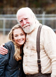 Emily Kinney  Scott Wilson - Hershel and Beth Greene - The Walking Dead