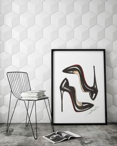 Black High Heels - Art Poster                                                                                                                                                                                 More