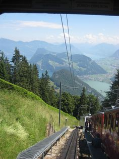 the tram up to mount pilatus