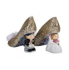 Mr & Mrs Gold Alternative Wedding Shoes Irregular Choice