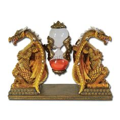 Gold Dragon Sandtimer - by Medieval Collectibles Chinese Dragon, Chinese Art, When Is My Birthday, Hourglass Sand Timer, Sand Timers, Gold Dragon, Mythical Creatures, Halloween Decorations, Medieval