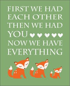 Orange and Green Woodland Nursery Quote Print  by LJBrodock, $10.00 Fox nursery
