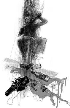 Charles Bukowski) * ilustración digital: Andrés Casciani http://andrescasciani.com/