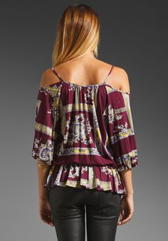 VOOM BY JOY HAN Alexa Peasant Top in Purple at Revolve Clothing - Free Shipping!