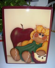 Handpainted Gingerbread Plaque por stephskeepsakes en Etsy, $12.99