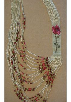Rose Side Loom Necklace, Sova Enterprises