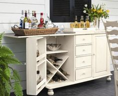Fine Storage Space for Beverages at Bar Armoire