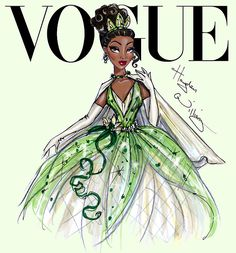 Disney Divas for Vogue by Hayden Williams: Tiana                                                                                                                                                                                 Mais