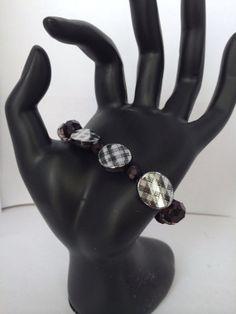Black beaded bracelet by Zoeysbeautyboutique on Etsy, $6.00