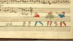 Music behind the staves. This image is nearly philosophical. The unbelievable Cambrai Chansonnier. CambraiBM