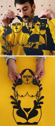 Paper Cutouts by Jose Antonio Roda // paper craft // cut paper art