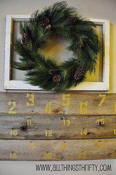 Barn Wood Christmas Advent Calendar