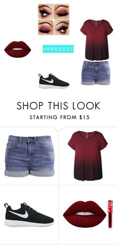 """Mordecai 8"" by rachel304miller-1 on Polyvore featuring even&odd, Dex, NIKE, Lime Crime and plus size clothing"