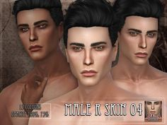 The Sims Resource: R skin 4 male by Remus Sirion The Sims 4 Skin, The Sims 4 Pc, Sims 4 Cas, Sims Cc, Sims 4 Hair Male, Sims Hair, Male Hair, Sims 4 Cc Eyes, The Sims 4 Cabelos