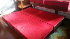 Mid century trundle bed opens to a queen size bed