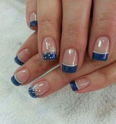 23 Winter French Tip Nail Designs Ultimately, take silver bow Christmas stickers and put them just in addition to the line wherever your nail polish ends. Acrylic nails are created of a liquid and a powder. Before you are able to apply the acrylic nails French Tip Nail Designs, New Nail Designs, Christmas Nail Art Designs, Winter Nail Designs, Christmas Nails, Snowflake Designs, Christmas Stickers, Christmas Tree, French Nails