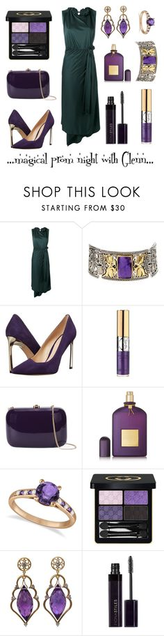 """""""Wizardess Heart - prom night with Glenn"""" by thatshippertypefangirl ❤ liked on Polyvore featuring Vetements, Konstantino, Nine West, Yves Saint Laurent, Rocio, Tom Ford, Allurez, Gucci and Wayne Smith Jewels"""