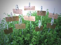 Copper Garden Markers of homes diana Copper Plant Tags Garden Herb Plant Markers Labels for front landscape