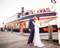 The Grand Belle, part of the Lake Geneva Cruise Line fleet and a beautiful Wedding Party.