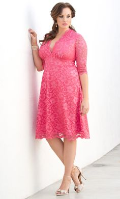Check out the deal on Mademoiselle Lace Dress at Kiyonna Clothing