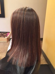 Fall hair color. Brown with honey highlights