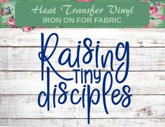 Tiny Disciples, Iron On, Raising Kids Shirt, Mom Shirts, Kids Shirts, Family Shirts, Arrow Shirts, Christian Families, Christian Shirts, Promote Your Business, Love To Shop, Christmas Birthday