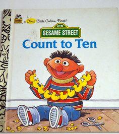 Sesame Street Count to Ten Vintage Children's Book  First  Little Golden Book by misseileen on Etsy
