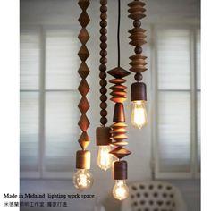 Oak pendant light vintage wood lamps bar table-inPendant Lights from Lights & Lighting on Aliexpress.com