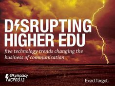 Disrupting Higher Education with Digital Technology #DisruptingHigherEd