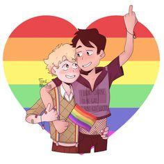 Damn right you are lucky Craig, Tweek is a cutie! Craig South Park, Tweek South Park, South Park Anime, Tweek And Craig, Gay Aesthetic, Lgbt Love, Taste The Rainbow, Adventure Time Anime, Gay Art