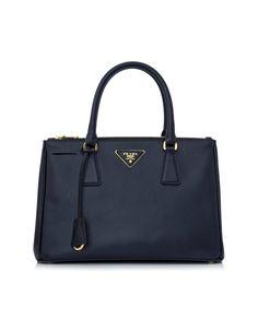 PRADA Saffiano Leather Tote Handbag Baltic Blue'. #prada #bags #shoulder bags #hand bags #leather #tote #lining #
