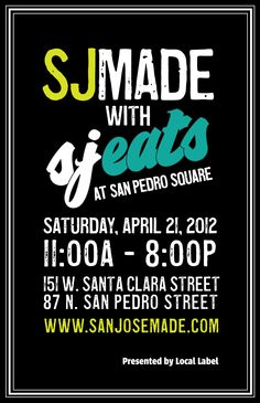 "I was here @ San Jose Made (SJMADE) with SJEATS at San Pedro Square, Spring 2012 (sanjosemade.com). Inspiring more life into the local art scene. Meeting artists, and supporting creativity & art. The world needs more of this ""uniqueness."""