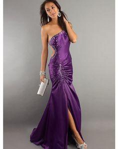 A-Line Sheath/Column One Shoulder Satin Dresses