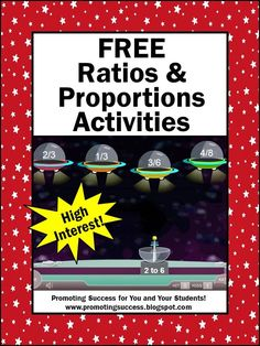 These ratios and proportions activities will help make learning (and teaching) fun in your math classroom. You will find videos, games, worksheets and FREE lessons. These activities are appropriate for 6th and 7th grade (middle school) students. They also work well to supplement homeschool curriculum.